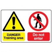 Multiple safety sign - Training Area 040
